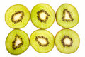 Kiwi fruit slices Stock Photography