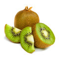 Kiwi fruit slices isolated on white background Royalty Free Stock Photo