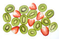 Kiwi Fruit and Strawberry Slices Royalty Free Stock Image
