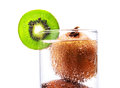 Kiwi fruit wet Royalty Free Stock Image