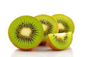Kiwi fruit  on white background Royalty Free Stock Image