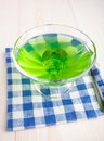 Kiwi jelly with mint sweet green leaf Royalty Free Stock Image