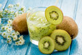 Kiwi juice with fresh fruits Royalty Free Stock Photo
