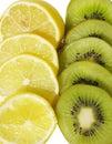 Kiwi and lemon slices Royalty Free Stock Photography