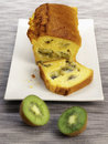 Kiwi loaf cake Royalty Free Stock Photo