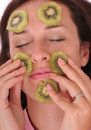 Kiwi mask Stock Image