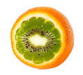 Kiwi orange Image stock