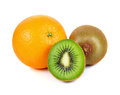 Kiwi and orange fruit Royalty Free Stock Photo