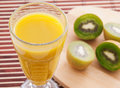Kiwi, orange and strawberry smoothie Royalty Free Stock Photo