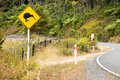 Kiwi road sign in New Zealand Royalty Free Stock Images