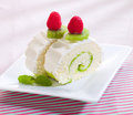 Kiwi roll cheescakes Stock Images