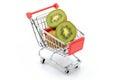 Kiwi in shopping cart