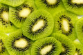 Kiwi slices Stock Image