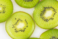 Kiwi slices pattern for templete background Stock Photo