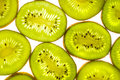 Kiwi slices on white background Stock Photography