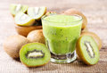 Kiwi smoothie Royalty Free Stock Photo
