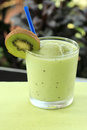 Kiwi smoothie for refreshment in the afternoon Royalty Free Stock Photo