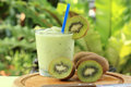 Kiwi smoothie for refreshment in the afternoon Royalty Free Stock Photos