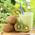 Kiwi smoothie for refreshment in the afternoon Stock Photo