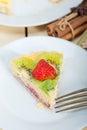 Kiwi and strawberry pie tart Royalty Free Stock Photo