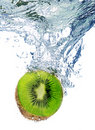 Kiwi in water Royalty Free Stock Photography