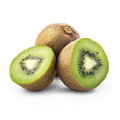 Kiwi on white isolated a background Stock Photography