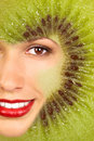 Kiwi Woman Stock Image