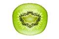 Kiwifruit slice a isolated on a white background Royalty Free Stock Photos