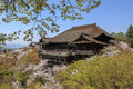 Kiyomizu temple and cherry blossom in Kyoto Stock Photos