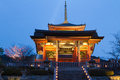 Kiyomizu temple kyoto japan seimon gate and three storey pagoda of Stock Images