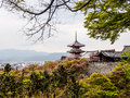 Kiyomizudera temple in kyoto japan Stock Photo