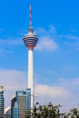Kl tower kuala lumpur telecommunication with museum and revolving restaurant offering a panorama view around the city malaysia Royalty Free Stock Photo