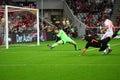 Klaas Jan Huntelaar scores Stock Photo