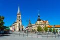 Kladno czech republic cathedral in town Royalty Free Stock Photography