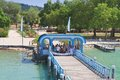 Klagenfurt resort jetty austria before boarding the ship Royalty Free Stock Photography