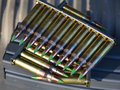 Klamerki 5.56mm ammo Obrazy Royalty Free