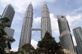 Klcc towers kuala lumpur malaisya january and buildings in center of new city Stock Photo