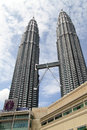 Klcc towers kuala lumpur malaisya january in the center of modern city Stock Photography