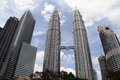 Klcc towers kuala lumpur malaisya january twin in the center of modern city Royalty Free Stock Photography