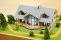 Klein model van plattelandshuisje Stock Foto