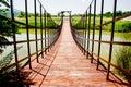 Kleine hölzerne Brücke Stockfotos
