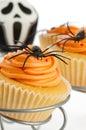 Kleine Kuchen für Halloween Stockbild