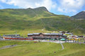 Kleine scheidegg railway station august the at switzerland on august situated at the foot of the eiger the Stock Photo