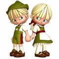 Kleine Vrienden - Toon Figures Royalty-vrije Stock Foto