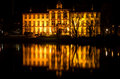 Kleiner kiel and ministry of justice germany schleswig holstein reflected in lake Royalty Free Stock Photography