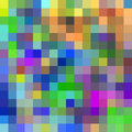Kleurrijke pixelachtergrond. Stock Afbeelding