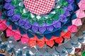 Kleurrijke thaise peruviaanse de oppervlakte dichte omhooggaand van de stijldeken meer van dit motief meer textiel in mijn Stock Foto