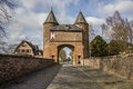 Klever city gate in the old roman city of Xanten Stock Photo