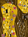 Klimt inspired abstract art Stock Image