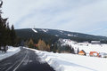 Klinovec krusne hory czech republic winter day at mountains Stock Photos